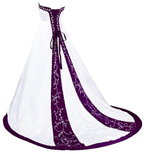 white and blue wedding dress - 3