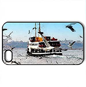 stanbul - Case Cover for iPhone 4 and 4s (Modern Series, Watercolor style, Black)