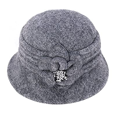 Lawliet-Womens-Gatsby-1920s-Winter-Wool-Cap-Beret-Beanie-Cloche-Bucket-Hat-A299