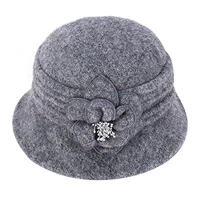 9f210412b2c Lawliet Womens Gatsby 1920s Winter Wool Cap Beret Beanie Cloche ...