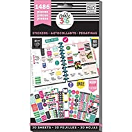 me & my BIG ideas PPSV-02 Create 365 The Happy Planner Sticker Value Pack Planner, Everyday Plans, 1486 Stickers