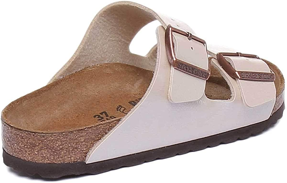 Birkenstock Arizona Graceful Pearl Blanc Birko Flor Graceful