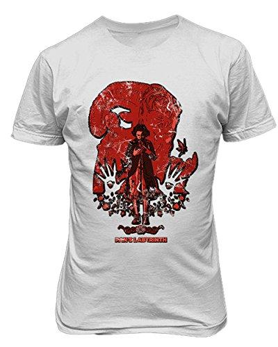 RIVEBELLA New Graphic Shirt Pans Labyrinth Novelty Tee Men's T-Shirt (White, 5XL)