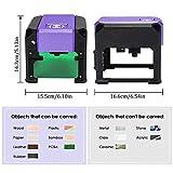 Beauty Star Laser Engraving Machine Laser Engraver Printer 3000MW Mini Desktop Laser Engraver Machine DIY Logo Laser Engraver CE Approved Working Area 80X80MM