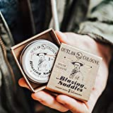 Blazing Saddles Solid Cologne - The Sexiest Cologne Ever - 1 oz - Western Leather, Gunpowder, Sandalwood, and Sagebrush in a Pocket-sized Tin - Men's or Women's Cologne
