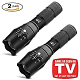 Tools & Hardware : Tactical Flashlight, YIFENG XML T6 Ultra Bright LED Taclight with Adjustable Focus and 5 Light Modes for Camping Hiking Emergency (2 pack)