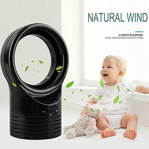 lzndeal Ventilador sin aspas Mini ventilador de aire acondicionado ...