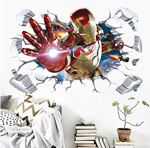 Etiqueta de la pared-Avengers Captain America Poster 60x90cm Sala De Ninos Sala De Jardin De Infantes Dormitorio, Murales Decorativos, Pegatinas De Pared, Carteles