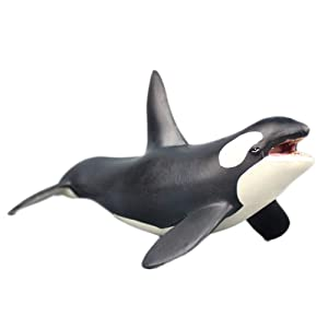 The Orca Blackfish Aquarium Decor, The Strongest Fighter Killer Whale Figure Aquarium Ornament Fish Tank Landscape Artificial Sea Life Replica Decoration Accessories