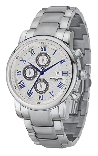 Jorg Gray JG7600-34 Mens Watch 42mm Blue/Silver Stainless Steel Day/Date/Month Indicators
