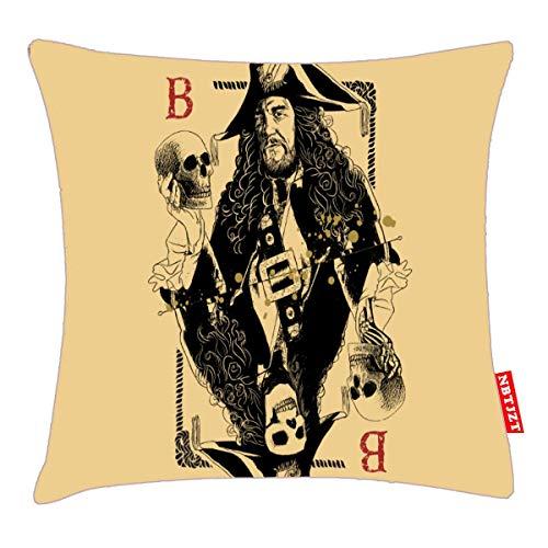 NBTJZT Hector Barbossa - Ruler of The Seas Pillow Cover Standard Throw Pillowcase 18X18 Inch]()