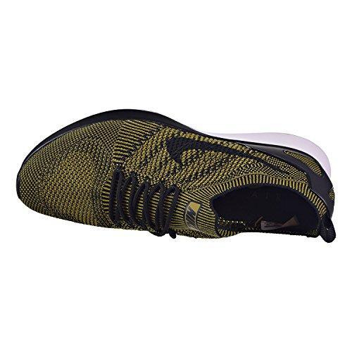 Nike Free Run Flyknit 2017, Scarpe Running Donna Black/Desert Moss/Desert Moss