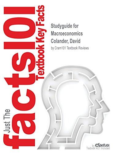 Studyguide for Macroeconomics by Colander, David, ISBN 9780077501938