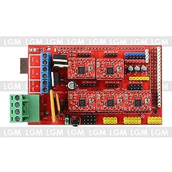 RAMPS 1.4 Shield para Arduino Mega + 5X A4988 Stepstick Impresora ...