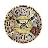 Wall Clock Vintage Decorative, Wall Clock Decorative Living Room Mediterranean Wall Clock for Bedroom, Wall Clock for Kids Room (3, L)