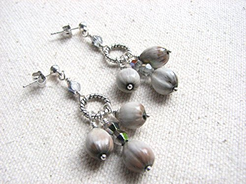 Jobs Tear Seed Chandelier Post Earrings Artisan Traditional Chandelier