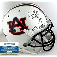 "Ronnie Brown & Cadillac Williams Autographed/Signed Auburn Tigers Schutt Authentic NCAA Helmet with ""War Eagle 13-0"" Inscription"