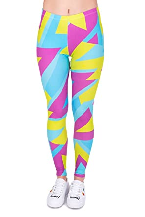 7fd9847696f5e Kukubird Printed Patterns Women's Yoga Leggings Gym Fitness Running Pilates  Tights Skinny Pants Size 6-