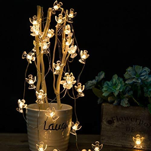 Onemore Angel Fairy String Lights, Waterproof Battery-Operated 10FT 30LEDs Christmas Decorations Lights for Girls Bedroom, Xmas, Birthday, Centerpiece, Party, Fence, Children Room Decoration