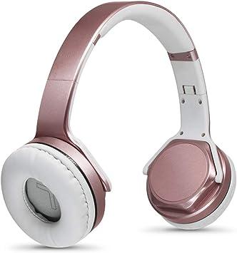 PUS Auriculares Bluetooth ilimitados, auriculares inalámbricos, altavoz de tarjetas, reducción de ruido activo, agradable sensación de uso, larga duración de la batería de oro rosa: Amazon.es: Electrónica