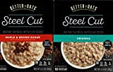 Better Oats Steel Cut Original and Maple and Brown Sugar Combination Pack (1 box of each flavor)