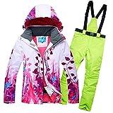 Women Ski Jacket Waterproof Snow Jacket Pants Set Outdoor Mountain Winter Coat