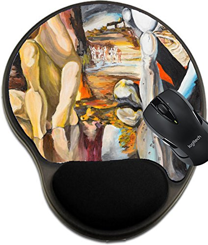 MSD Mousepad Wrist Protected Mouse Pads/Mat with Wrist Support Design 22878555 llect Oil Painting Illustrating a Replica of a Famous Painting Made by Salvador Dali ()