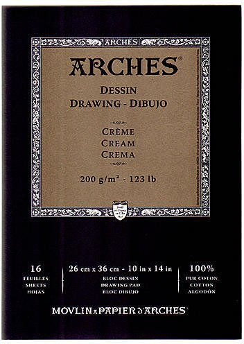 Arches Drawing Pad Cream (Cream) - 10 In. x 14 In. 1 pcs sku# 1845534MA
