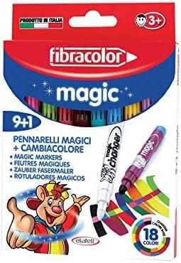 Fibracolor Magic Pack 9 rotuladores con tinta mágica punta gruesa ...