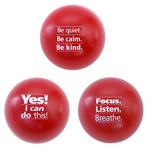 Teacher Peach Inspirational Stress Balls, Stress Relief Toys for Kids and Adults, Great Teacher Idea or Stocking Stuffer