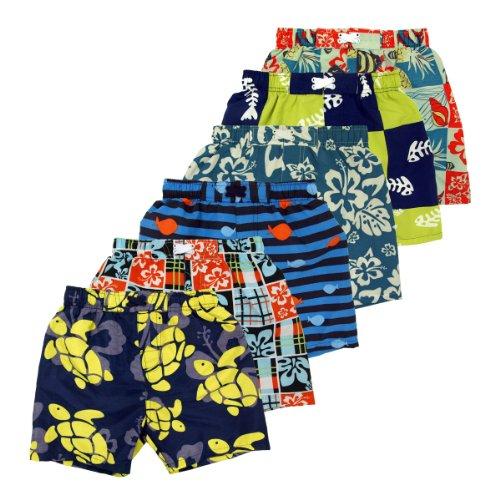 Infant Toddler Boys' Swimwear Patterned Swim Trunks - Different Designs Available