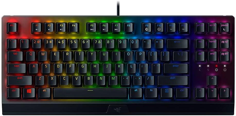 Razer BlackWidow V3 Tenkeyless - Teclado mecánico para juegos, Teclado Gaming Compacto con interruptores mecánicos, iluminación cromática RGB, gestión ...