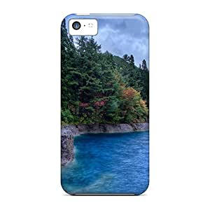 Cute High Quality Iphone 5c Gorgeous Forested Lake Shore Cases