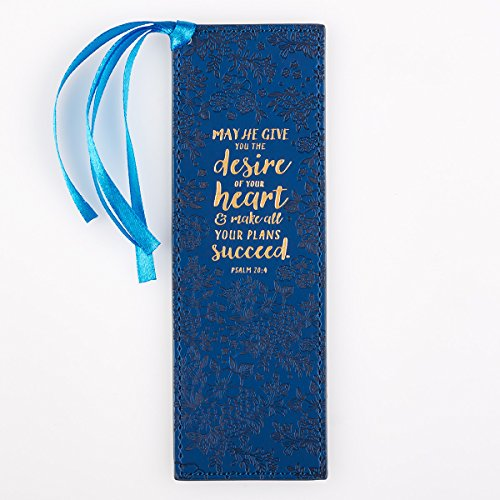 Christian Christmas Bookmarks - Desire Of Your Heart, Psalm 20:4 - LuxLeather Bookmark