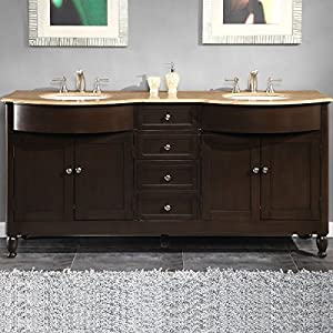 Amazoncom Silkroad Exclusive Travertine Stone Top Double