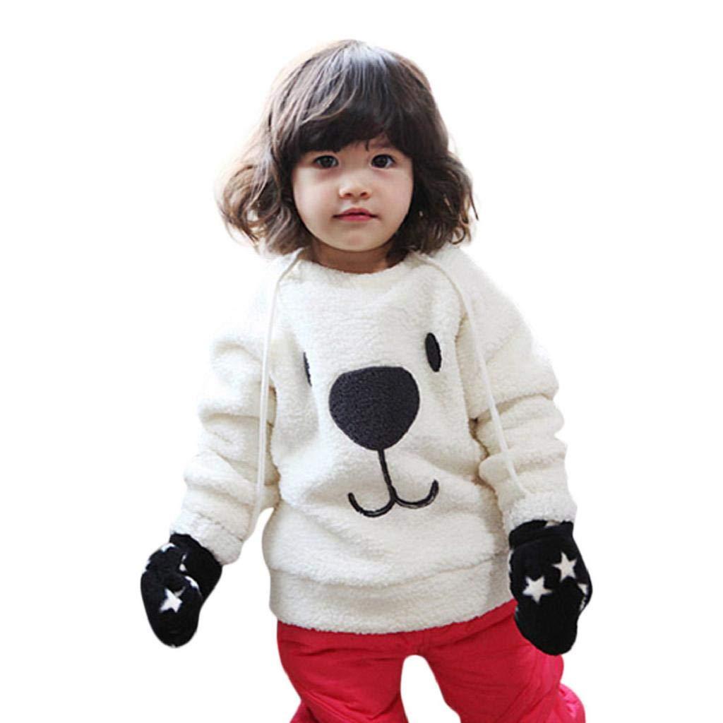Bambini Giacca Invernale, ABCone Bambino Ragazzi Ragazze Abbigliamento Del Maglietta A Maniche Lunghe Orso Dei Cartoni Animati T-Shirt In Camicetta Per Neonato Caldo Per Bambini Cappotto Susenstone