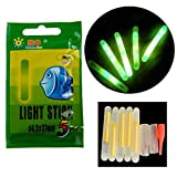 50Pcs/Lot 4.5X37mm Glow Sticks For Fishing Floats Bobbers Fishing Luminous Stick Night Light Wand Tubes Green Fluorescent Lighting Stick