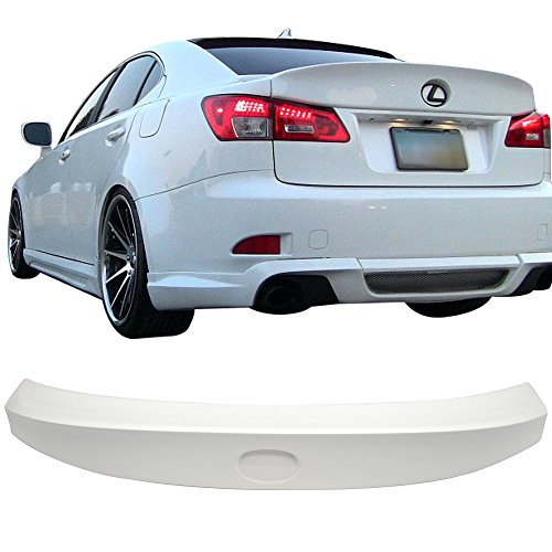 Pre-painted Trunk Spoiler Fits 2006-2013 Lexus IS250 350 IS-F | IK Style ABS Painted #077 Starfire Trunk Boot Lip Wing Deck Lid Other Color Available By IKON MOTORSPORTS | 2007 ()