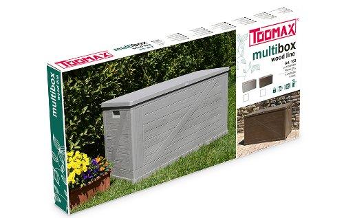 Marrone 120X57X63 Toomax Z163R035 Baule Multibox Wood Line
