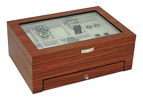 Executive watch and Jewelry Box Organizer Gift (Jet) - Executive Box