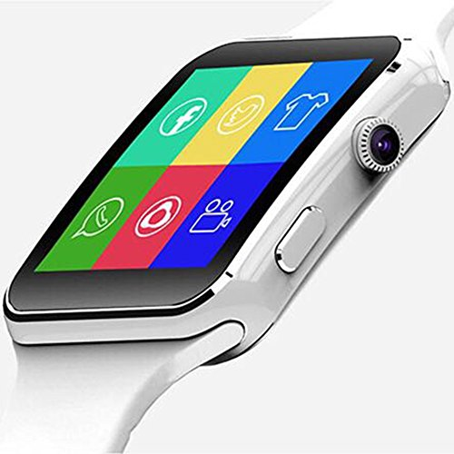 PINCHU Smart Watch Ceramics Curved Screen 240240 Pix Support SIM Camera Pedometer For Android IOS Look Like Apple Watch, B