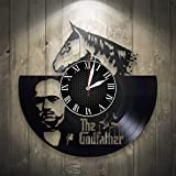 Olha Art Design The Godfather Vinyl Wall Clock, Wall Clock Modern, Movie Wall Clock Large, Godfather Gift For Boy, Birthday Gift, Godfather Decor