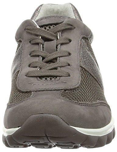 Gabor Helen Damen Sneaker Marrone (marrone / Maglia Argento / Nubuck / Incontrato In Pelle)