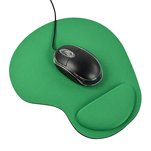 Balepha Mouse Pad with Wrist Rest Support Comfortable Memory Foam Mouse Mat (Green)