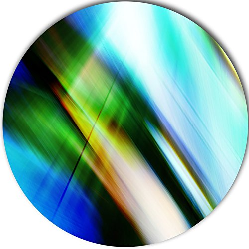 'Rays of Speed Blue Green' Graphic Art Print on Metal MT8136-C11