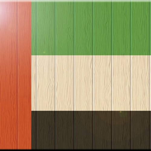 Rikki Knight 8 x 8 United Arab Emirates Flag on Distressed Wood Design Ceramic Art Tile