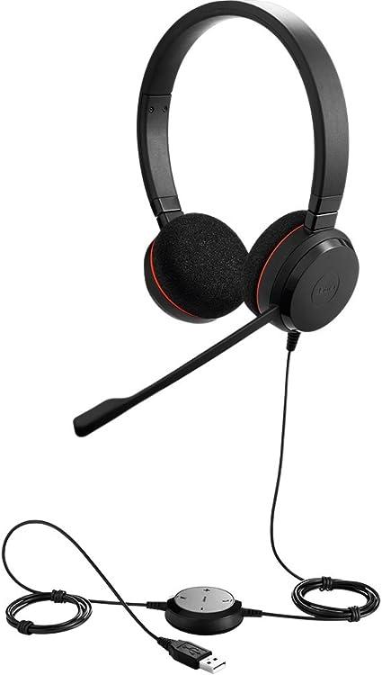 Amazon Com Jabra Evolve 20 Uc Stereo Wired Headset Music Headphones U S Retail Packaging Black
