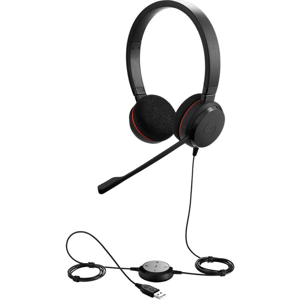 Jabra Evolve 20 UC Stereo Wired Headset/Music Headphones (U.S. Retail Packaging)