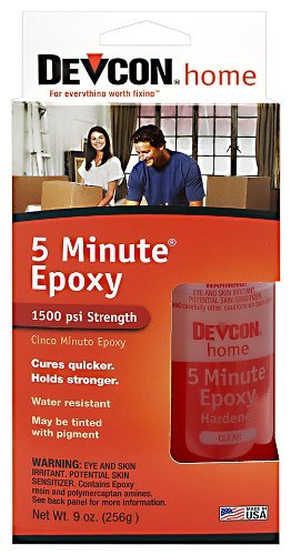 Devcon 8.5oz 5 Minute Epoxy 1500lb Waterproof Glue 4.25oz ()