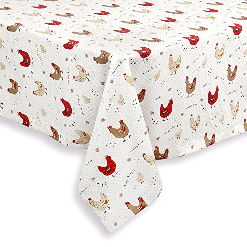 Farmhouse Chicken Tablecloth, 60 x 84 Oval